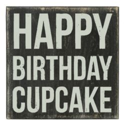 Happy Birthday Cupcake Box Sign