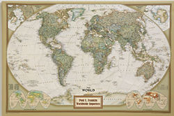 Executive World Personalized Canvas Map