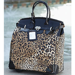 Leopard Print Roller Bag