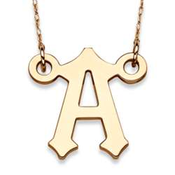 Handcrafted 10K Gold Initial Necklace
