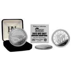 New England Patriots 2012 AFC East Division Champions Silver Coin