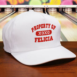 Property of My Valentine Personalized Hat