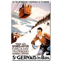 St. Gervais Les Bains Metal Ski Sign