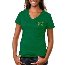 University of Oregon Ducks Applique Tri-Blend V-Neck T-Shirt