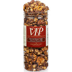 Canister of Butter Toffee Almond Pretzel Popcorn