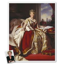 Queen Victoria Personalized Caricature Art Print