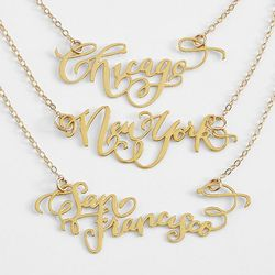 Brevity City Script Necklace