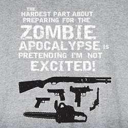 Hardest Part About the Zombie Apocalypse Sweatshirt