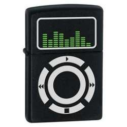 Music Black Matte Zippo Lighter