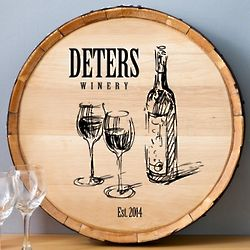 Family Winery Personalized Wine Barrel Sign