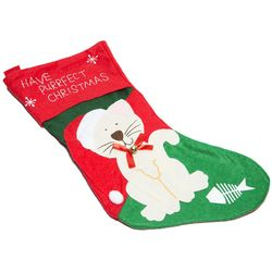 Cat Felt Christmas Stocking