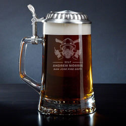 Personalized Hot Times Fire Watch Beer Stein