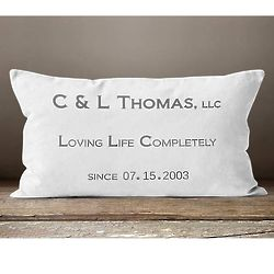 Customized Wedding Anniversary Pillow