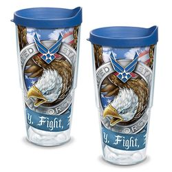 Two 24-Ounce Air Force Eagle Tumblers with Lids
