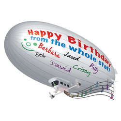 Personalized Remote Control Party Blimp