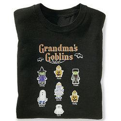Halloween Family of Characters Adult Crewneck Sweatshirt