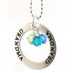 Grandma Affirmation Ring Necklace