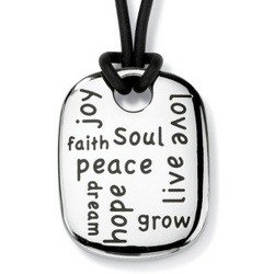 Stainless Steel Multi-Message Inspirational Pendant