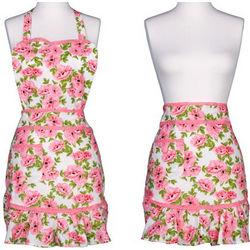 Pink Spring Botanical Convertible Marilyn Apron