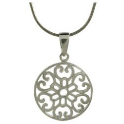 Sterling Silver Filigree Circle Pendant