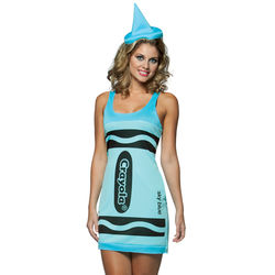 Sky Blue Adult Crayola Crayon Costume Dress