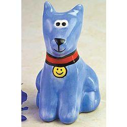 Blue Dog of Happiness Figurine