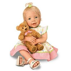 Lifelike Baby Doll with a Recordable Bear