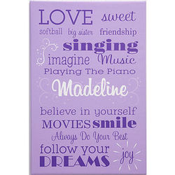 Her Life Girl's Personalized Canvas Art