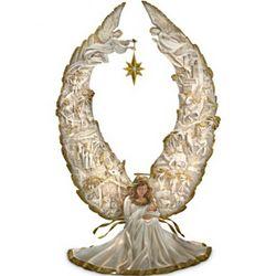 Away in a Manger Nativity Angel Sculpture