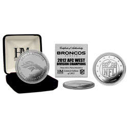 Denver Broncos 2012 AFC West Division Champions Silver Coin