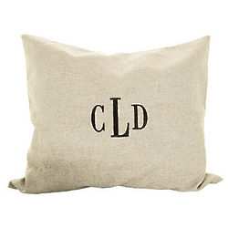 Personalized Linen Throw Pillow