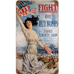 Fight or Buy Metal Sign
