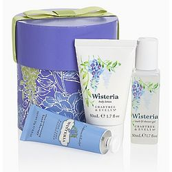 Crabtree and Evelyn Wisteria Bath and Body Care in Hat Box