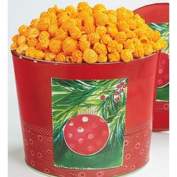 Double Cheese Popcorn in Ornament Tin