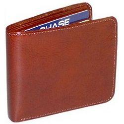 Men's Italian Bi-Fold Wallet with Flap