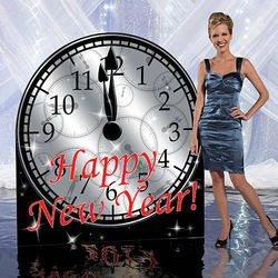 New Year's Clock Standee
