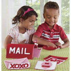 Be Mine! Felt Valentines and Mailbox Play Set