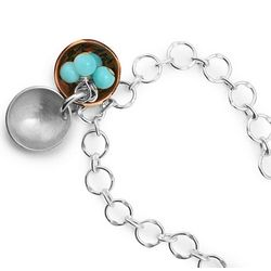 Peruvian Opal Nest Egg Bracelet