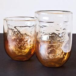 6 Cosmic Diner Meteorite Drinking Glasses