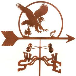 Eagle Swooping on a Fish Weathervane