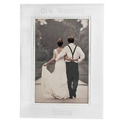 Our Wedding Personalized Beaded Picture Frame
