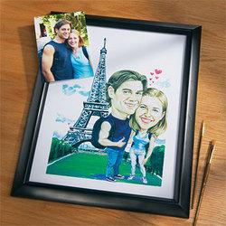 Caricature Couple Print