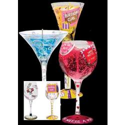 Hand-Painted Wine Glass & Candle Gift Set