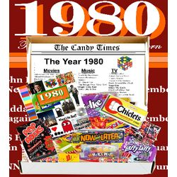 Retro 1980 Candy Gift Box with 1980 Highlights