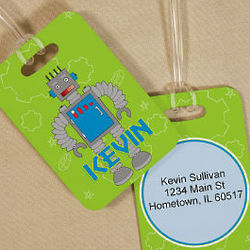 Personalized Robot Luggage Tag