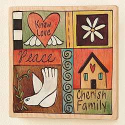 Handmade Know Love Wooden Plaque
