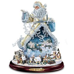 Thomas Kinkade Moving Santa Claus Figurine