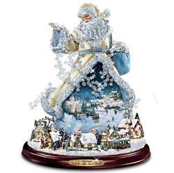 Thomas Kinkade Moving Santa Claus Figurine