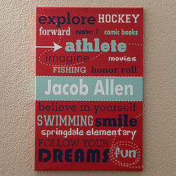 His Life Boy's Personalized Canvas Art
