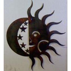 Sun and Moon Metal Art
